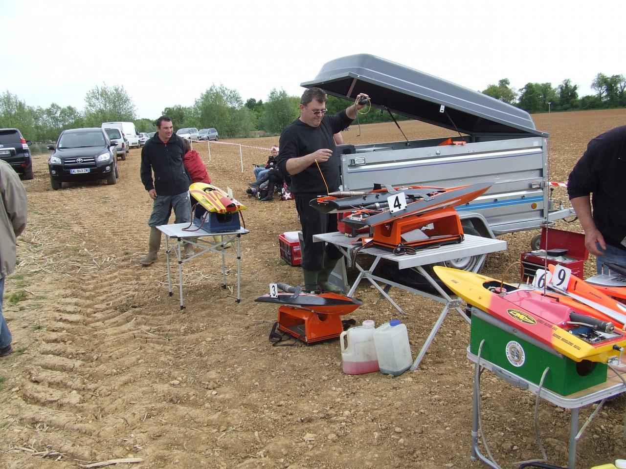 préparation des bateaux avant la manche