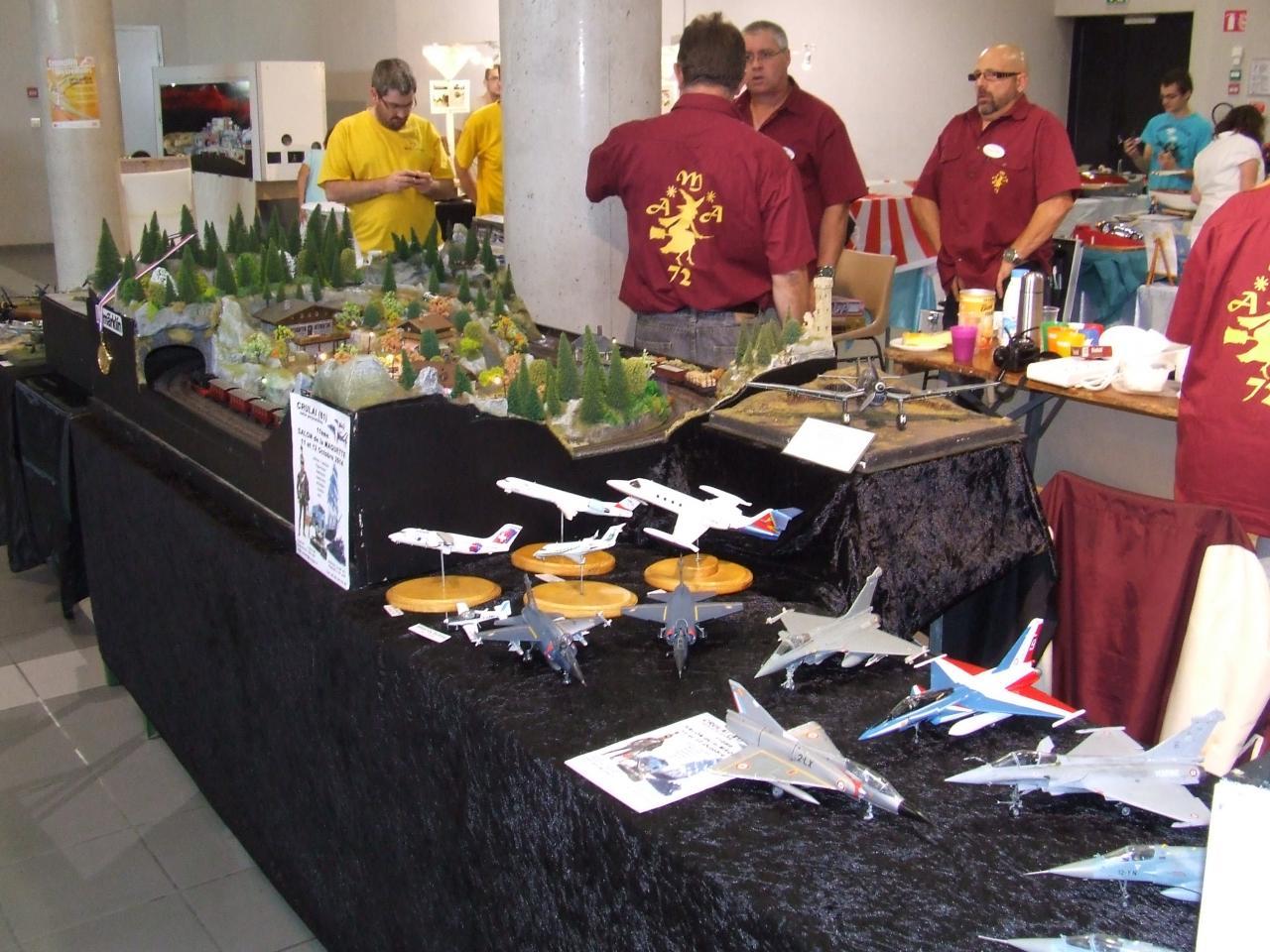 stand maquette d'avion